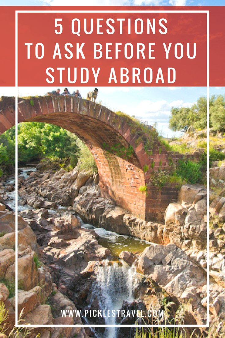 Study Abroad Tips start with these 5 questions to ask to help pick which programs and countries to apply to, like London, England versus Spain or Italy. Once you answer these questions applying for scholarships and everything else is easy.