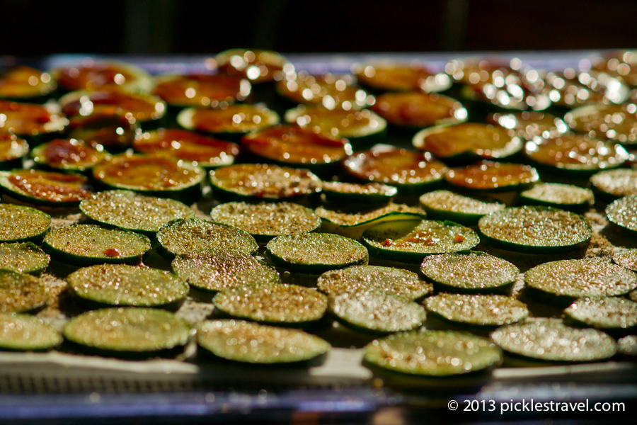 Zucchini Ready for Dehydration | www.picklestravel.com