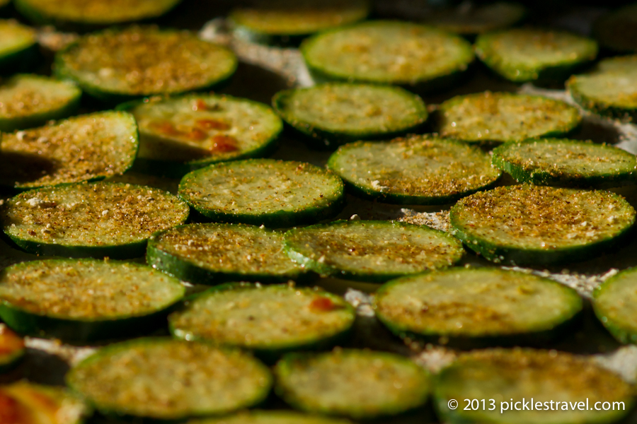 Perfectly seasoned Zucchini Chips