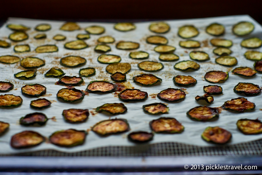 Dried Zucchini Chips Ready for eating | www.picklestravel.com