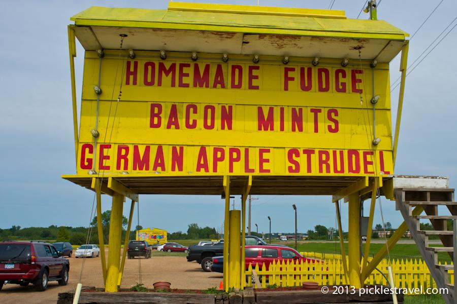 Yellow Signs and Slogans at Jims Apple Farm