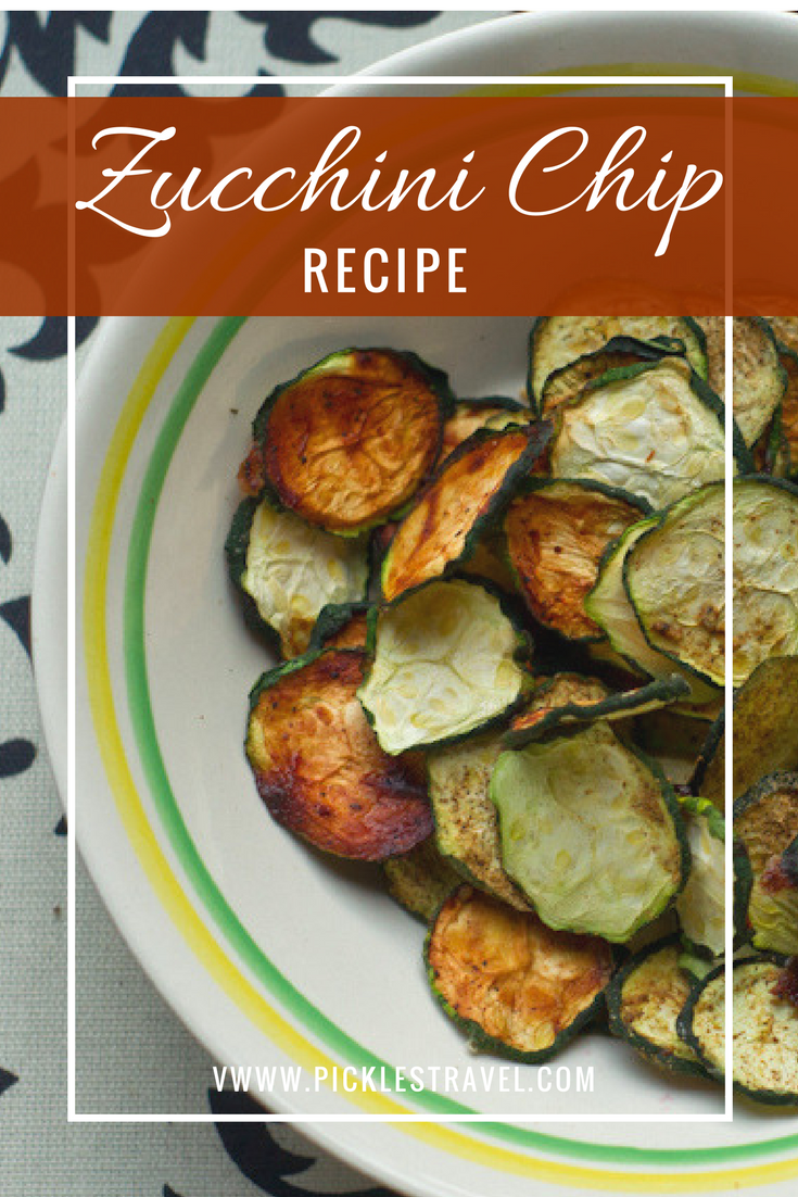 Easy and Healthy Zucchini Recipe for Baked or Dehydrated Zucchini Chips that can be served as a side or appetizer or even an after school snack for the kids. Plus it's a great way to get rid of all that excess Zucchini from the garden