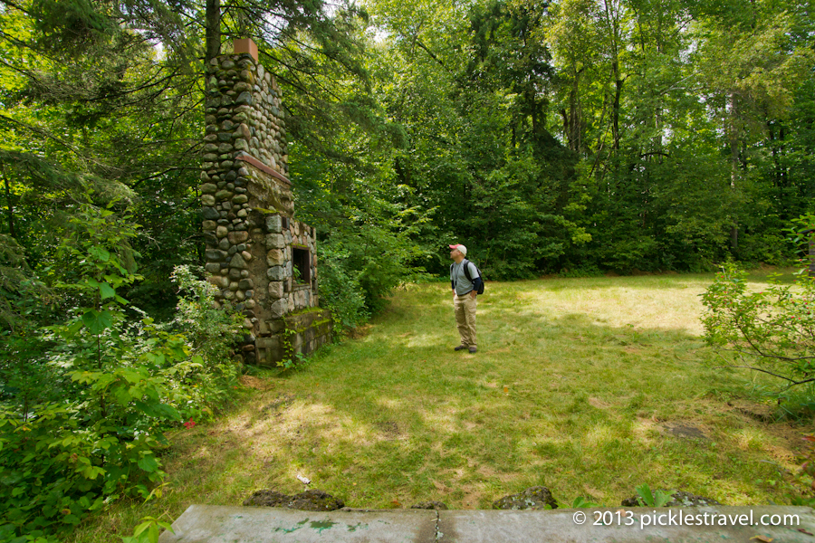 Standing where once there was a cabin
