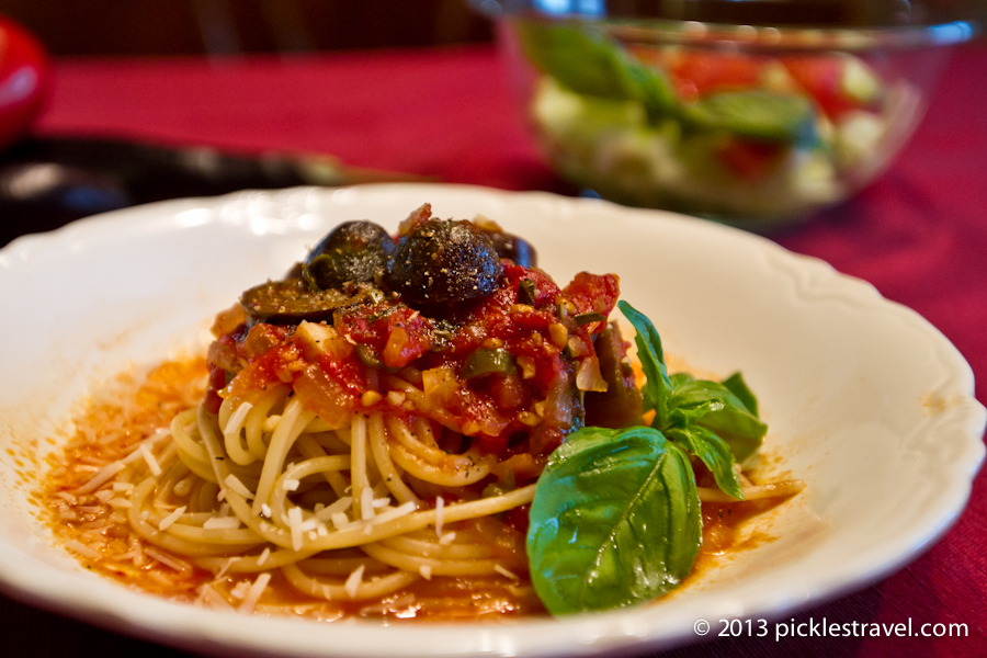 Eggplant and Tomato Sauce with Pasta Recipe