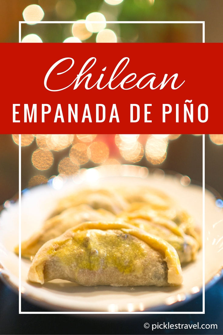 Recipe for Chilean Pino (Piño) Empanada- the perfect party appetizer whether for the Super Bowl or a backyard BBQ it's a creative idea that no one else will be serving and everyone will be eating