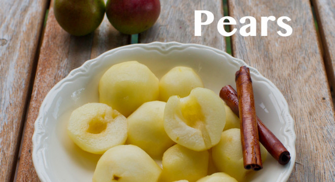 How to pickle pears