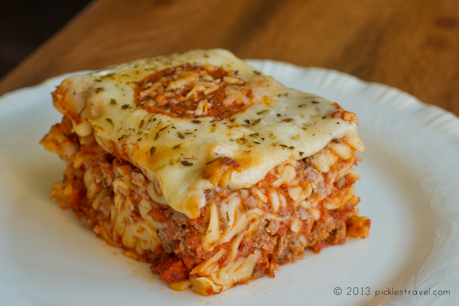 Just a slice of pizza casserole