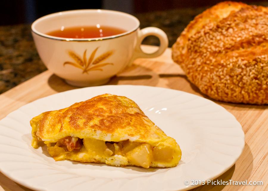Steak and Potato Omelette for Breakfast