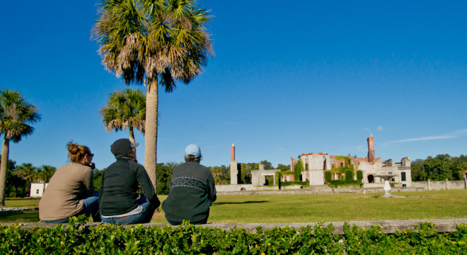 Enjoying the view of Dungenesss Ruins on Cumberland Island