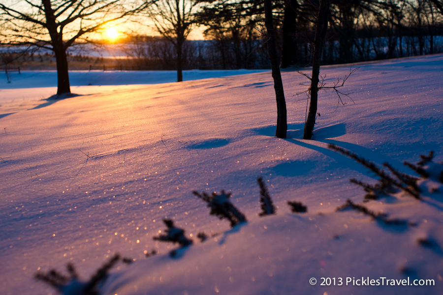 Sunrise on Fresh Snow