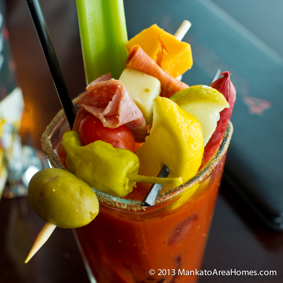 Top-heavy bloody mary