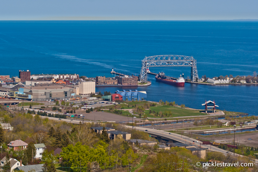 Aerial Lift Bridge views from Enger Park