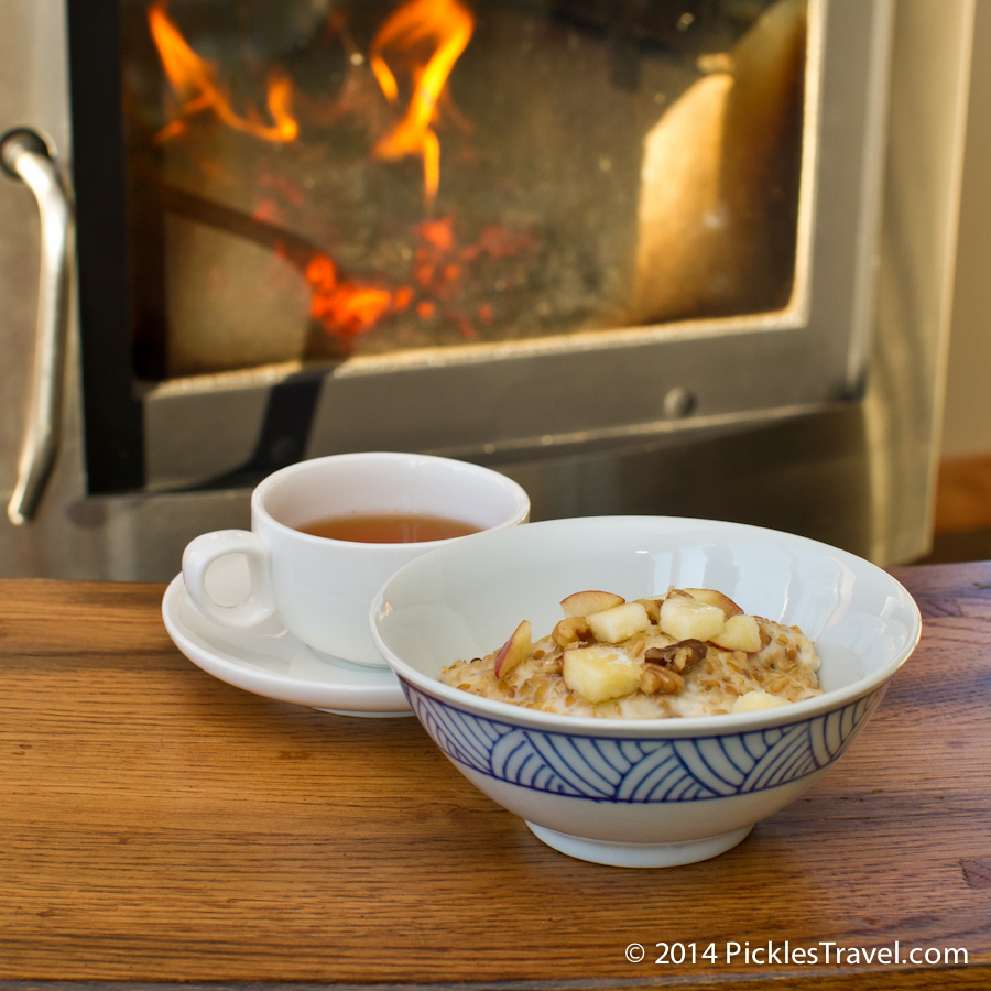 Oatmeal by the fire