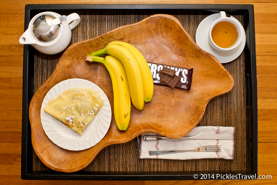 Crepe, Banana and Chocolate - a well rounded breakfast