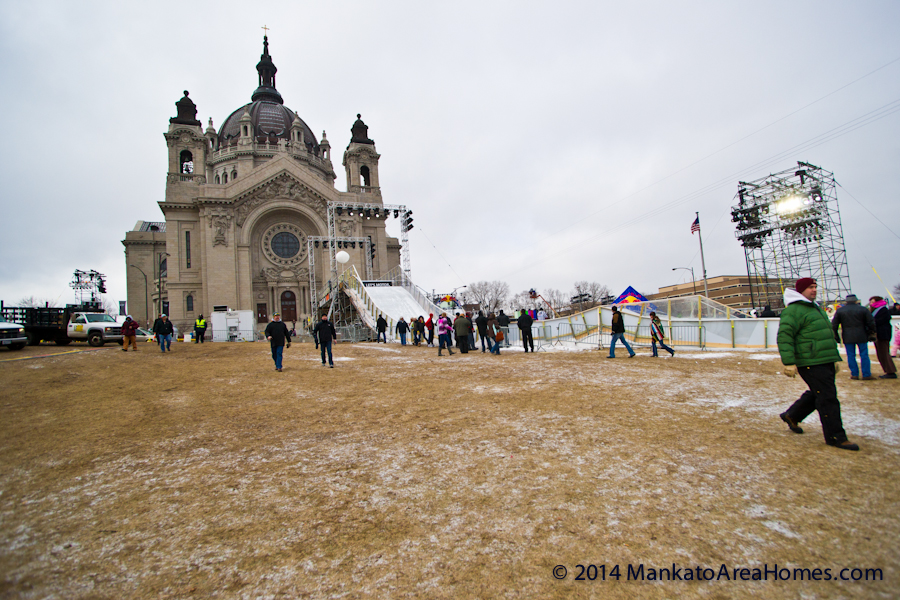 Crashed Ice and St Paul Cathedral become one