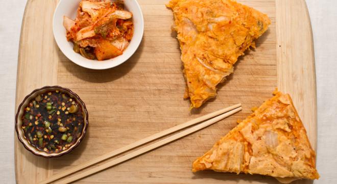 Kimchi, Kimchi Pancake and dipping sauce