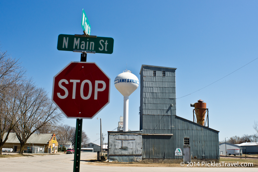 grain elevator, main street and grain elevator