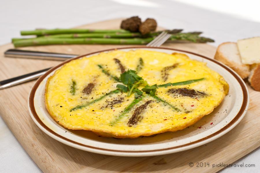 Morel Mushroom Asparagus Spring Breakfast