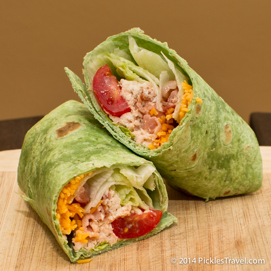 Chicken Bacon Wrap Sandwich for bag lunches