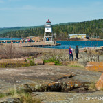 Walk right up to the Grand Marais Lighthouse