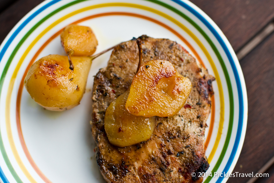 Caramelized Canned Pears from the Grill