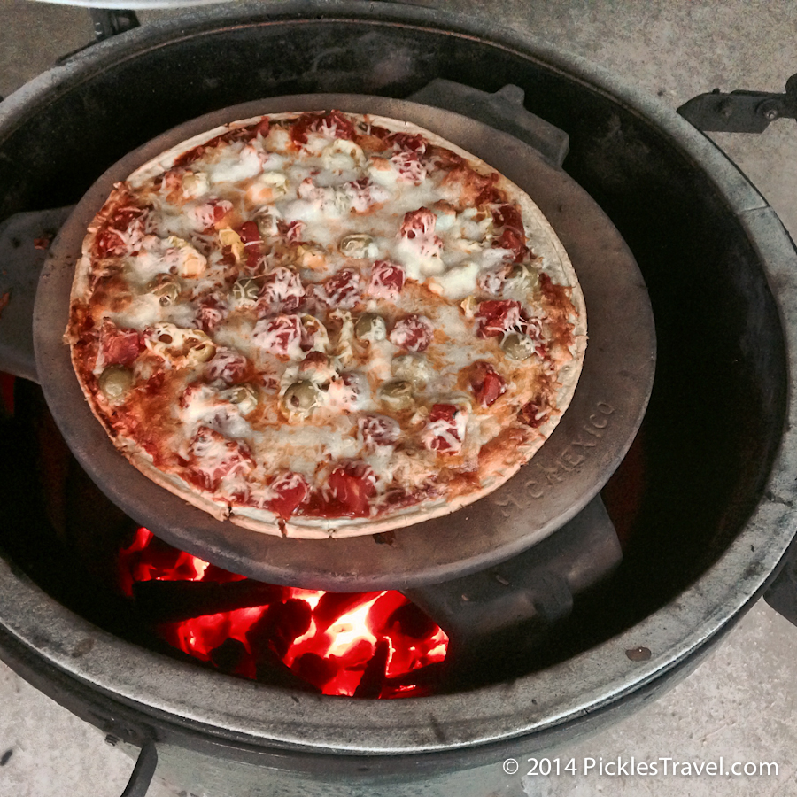 Grilled Pizza on Big Green Egg