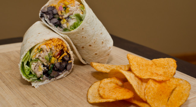 Picnic Lunch made easy with Southwestern Chicken Wrap Recipe