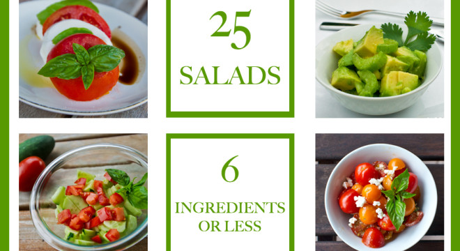 25 salads with 6 ingredients or less