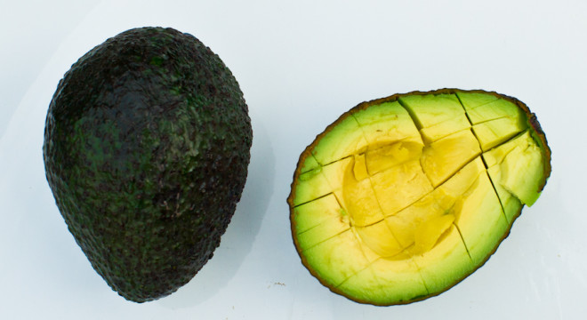Best way to cube up an avocado