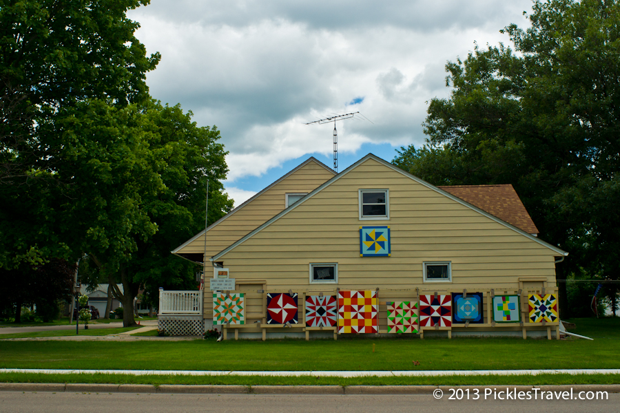 Barn quilts for sale by the side of the road
