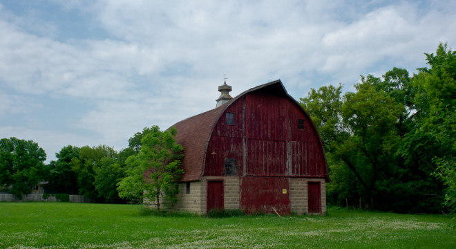 The barn from outside