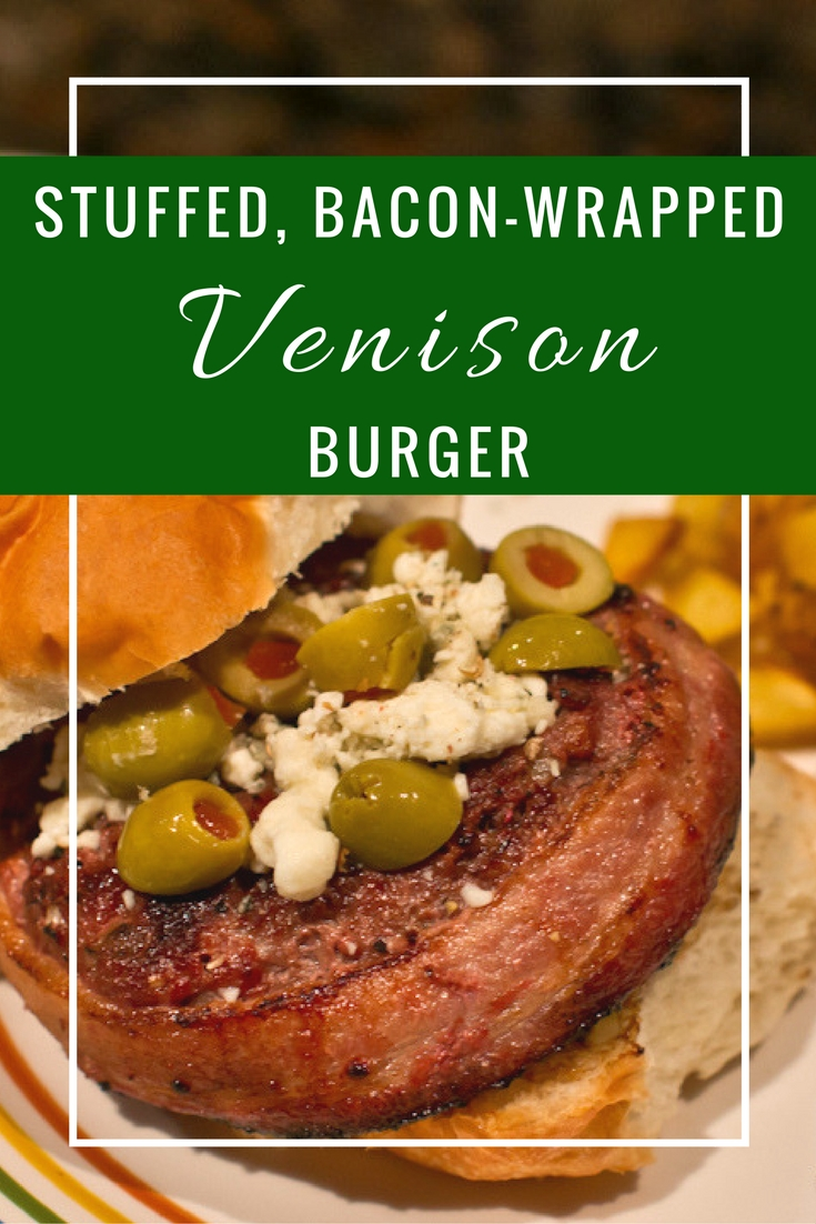 Easy homemade, grilled Juicy Lucy Stuffed Venison Burger (can easily make this hamburger with beef too) stuffed with any cheese before cooking- extra bonus if you make it a cheeseburger!