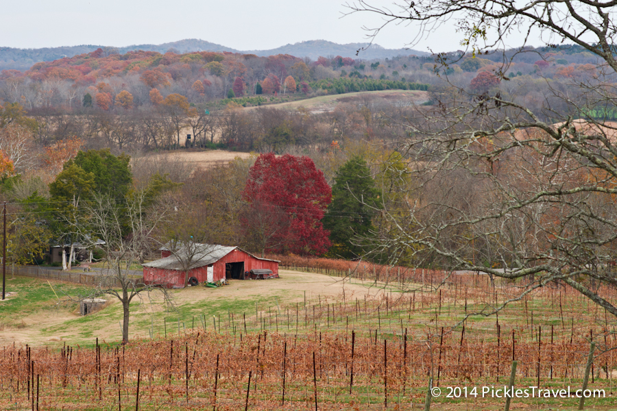 Barn view from Arrington Vineyards
