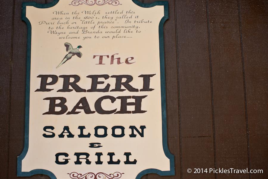 Preri Bach entrance and description sign