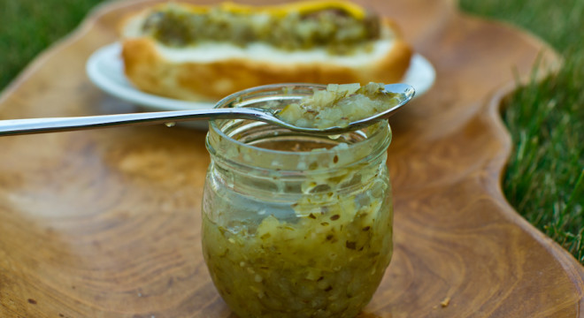 Dill Pickle Relish Recipe for grilling out