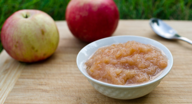 Fresh Applesauce straight out of the garden