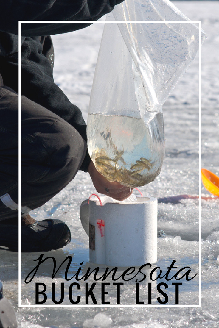 Things to do in Minnesota during Winter, Spring, Summer and Fall a MN Bucket List for traveling the state seasonally including ice fishing and the state fair