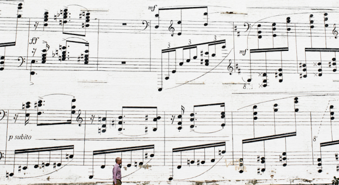Musical Mural downtown Minneapolis