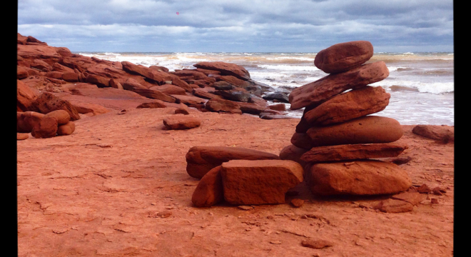 PEI Cairn on the French River coast of Prince Edward Island