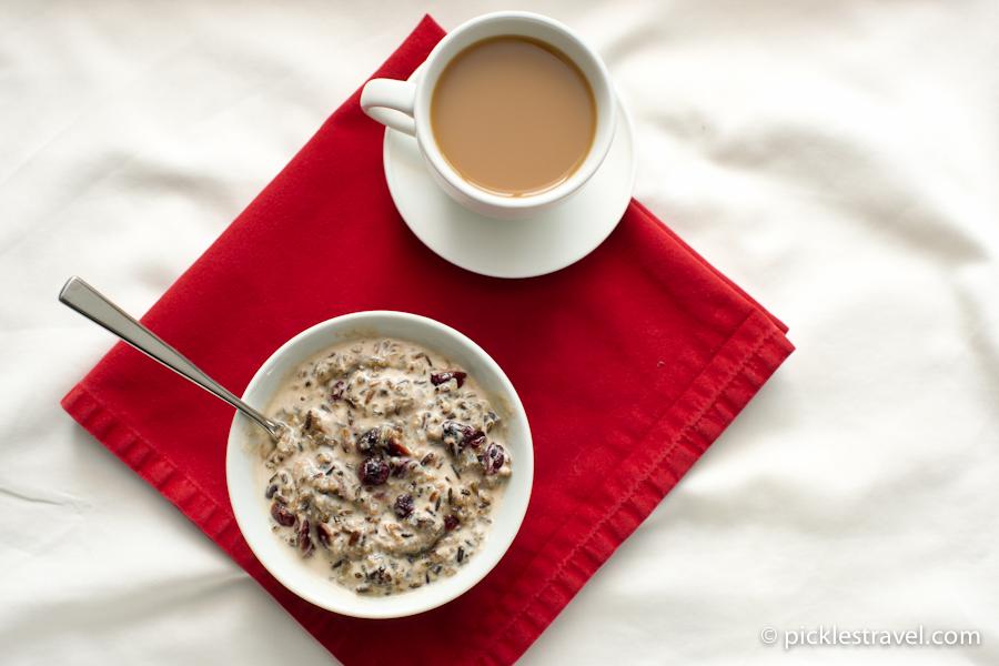 Breakfast Porridge made of Wild Rice - perfect brunch idea