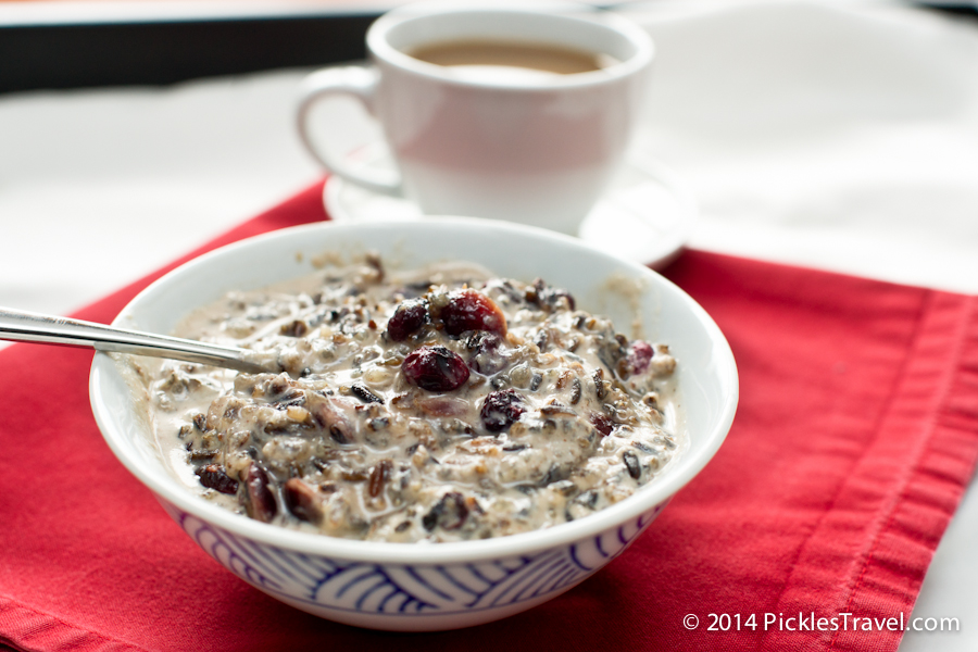 Wild Rice Porridge with dried blueberries
