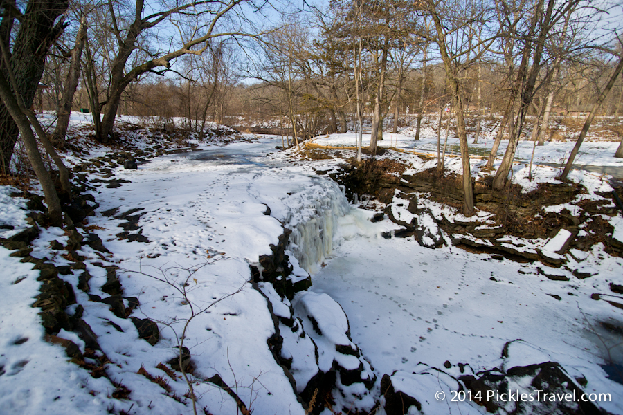Minneopa Creek Falls frozen over