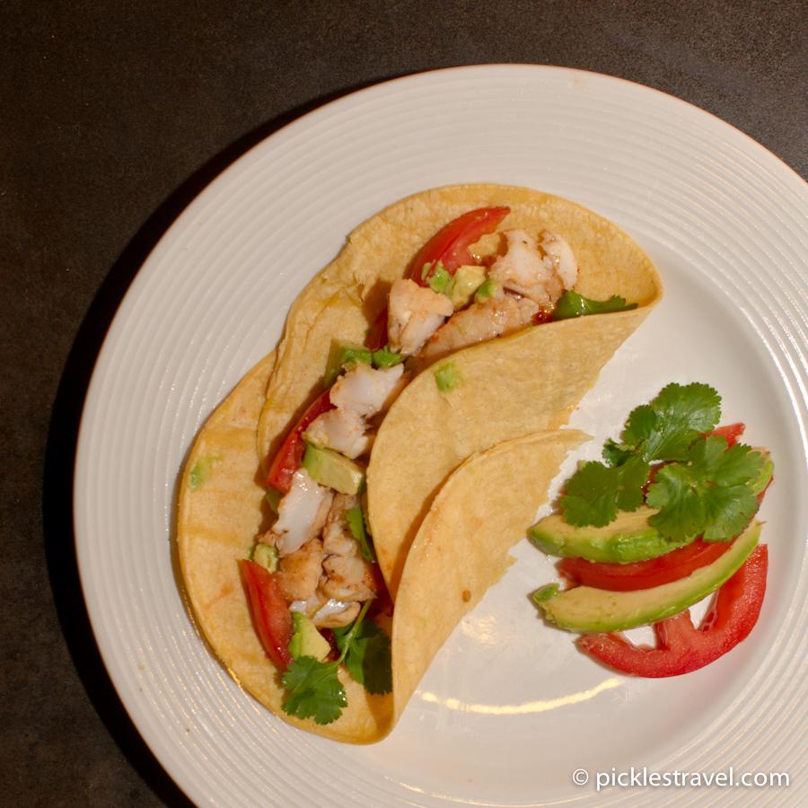Fish taco deliciousness