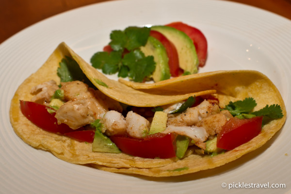 Walleye Fish Tacos with Chipotle Peppers in Adobo Sauce