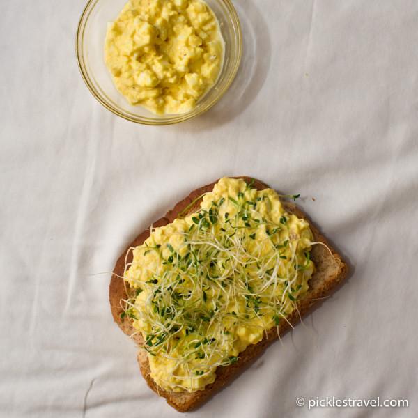 Open Faced Egg Salad Sandwich Recipe