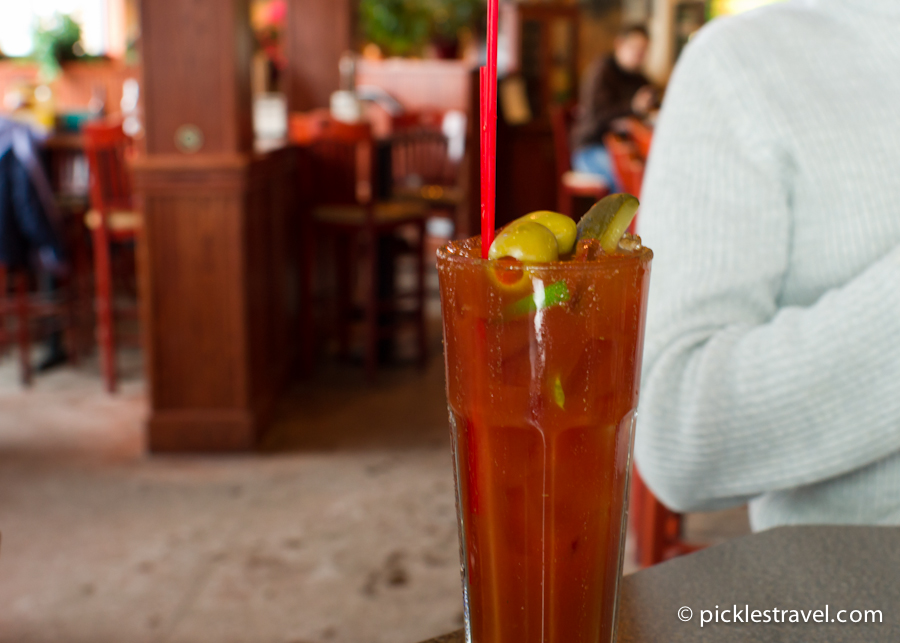 What bloody mary lacks ambiance makes up for