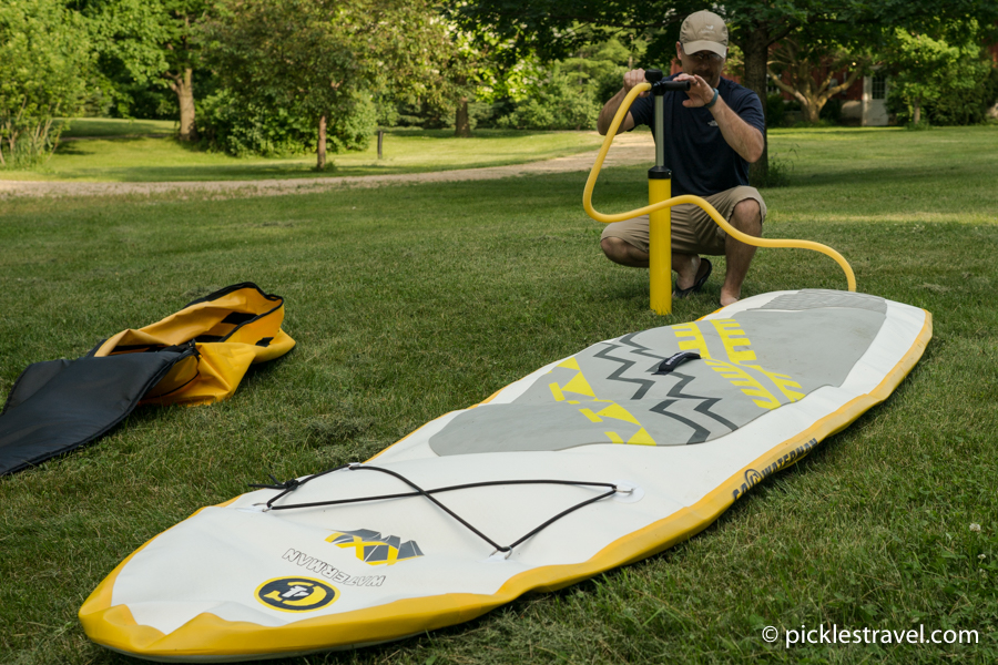 Deflated C4 Waterman SUP