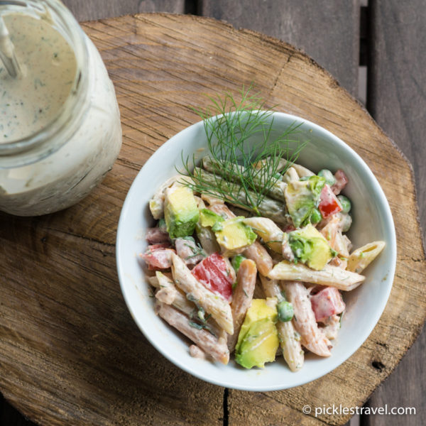 Bacon, Avocado Ranch Pasta Salad