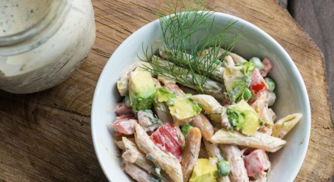 Bacon, Avocado Ranch Pasta Salad