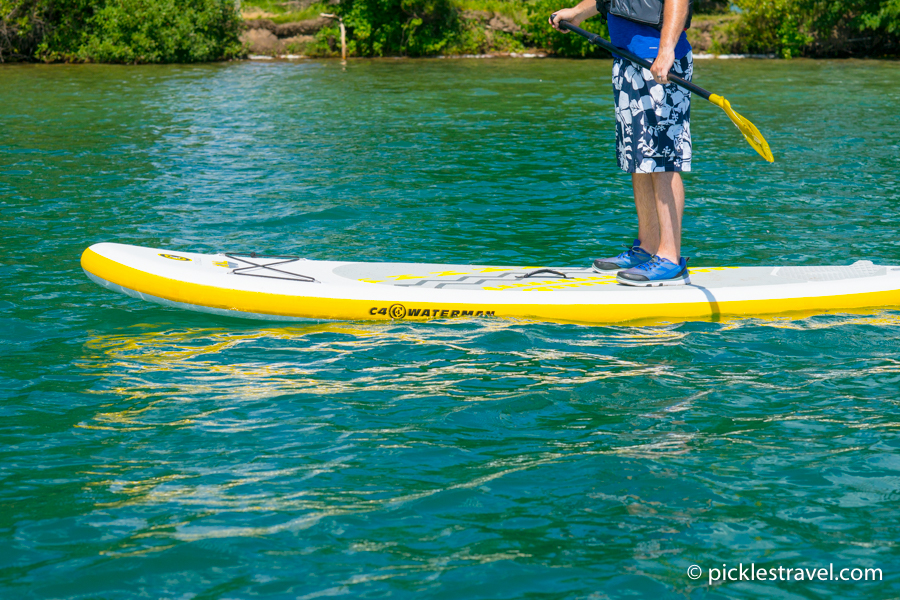 "C4 Waterman SUP Paddleboard on crystal clear waters Up North to ""The Lake"""